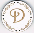 BB004B - bouton Lettre D