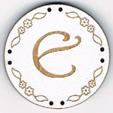 BB005B - bouton Lettre E