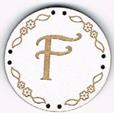 BB006B - bouton Lettre F