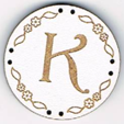 BB011B - bouton Lettre K