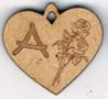 """BB050N - Lettres  """"Médaille coeur et roses"""""""