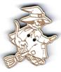 BD421 - Bouton sorcière et son balai