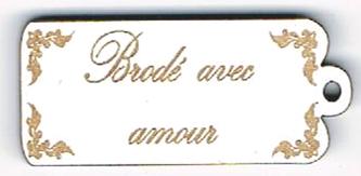 BE012B - Bouton Brodé avec amour