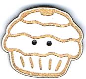 BI004 - Bouton Cup cake multi