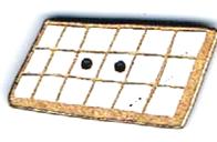 BI008 - Bouton Tablette de chocolat