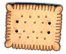 BI009 -Bouton  Petit beurre