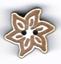BS201 - Bouton mini fleur edelweiss