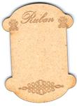 """CC003N - Petite cartonette """"ruban"""""""