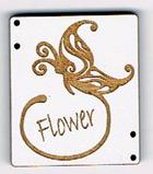 "CG002 - Bouton papillon ""flower"""