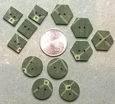 LMT07 - Lot mini tissé géométrique