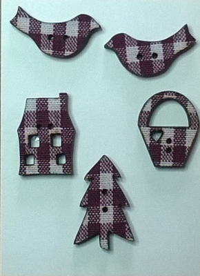 PA001 - Mini tissé vichy, série A
