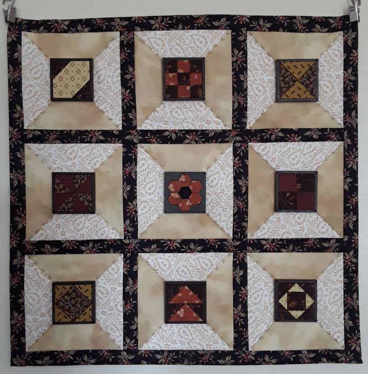 Panneau avec 9 carrés patch