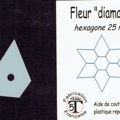 MFDP - Fleur diamant  25 mm