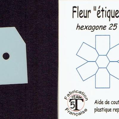 MFEP - Fleur étiquette  25 mm