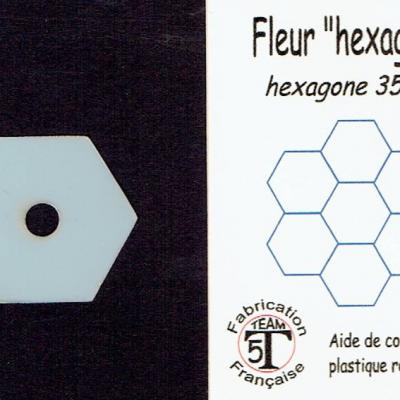 MFHM - Fleur hexagone   35 mm