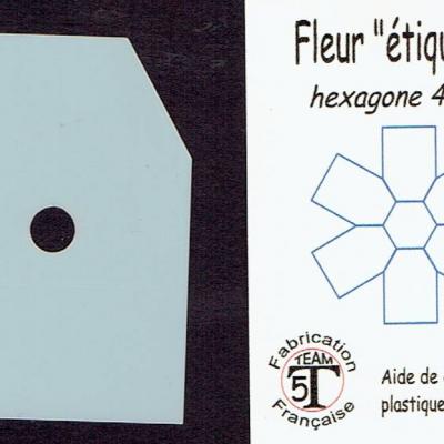 MFEG - Fleur étiquette  45 mm
