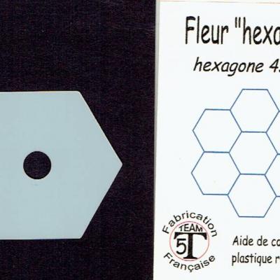 MFHG - Fleur hexagone   45 mm