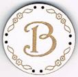 BB002B - bouton Lettre B