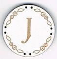 BB010B - bouton Lettre J