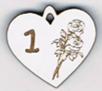 """BB051B - Chiffres  """"Médaille coeur et roses"""""""