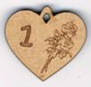 """BB051N - Chiffres  """"Médaille coeur et roses"""""""