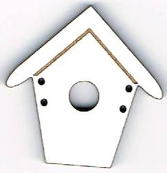 BD012 - Bouton Maisonnette n°3