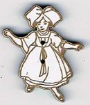 BD025 - Bouton danseuse Alsacienne