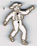 BD026 - Bouton danseur Alsacien