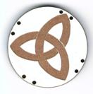 BD046 - Bouton triangle celtique