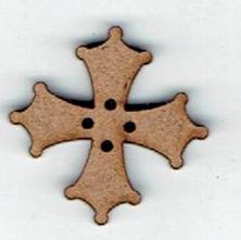 BD047- Bouton croix occitane