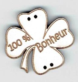 BD048- Trèfle 100% bonheur