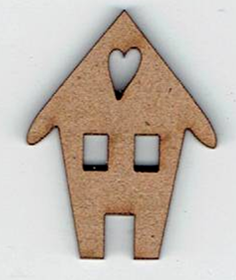 BD058 - Bouton maison coeur
