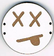 BD205 - Grand bouton smiley n°6