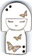 BD301- Bouton poupée japonaise