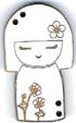 BD302- Bouton poupée japonaise