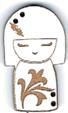 BD303- Bouton poupée japonaise