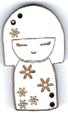 BD304- Bouton poupée japonaise