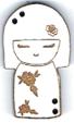 BD305- Bouton poupée japonaise