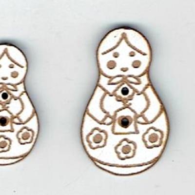 BD350- Lot poupée russe fleurs