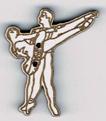 BD400 - Bouton couple de danseurs