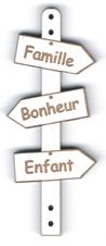 BD520 - Bouton flèche, Famille Bonheur Enfant