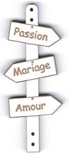 BD521 - Bouton flèche, Passion Mariage Amour