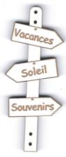 BD523 - Bouton flèche, Vacance Soleil Souvenirs