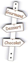 BD525 - Bouton flèche, Gourmand Dessert Chocolat