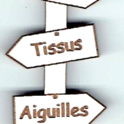 BD529 - Bouton flèche, Fils, Tissus,  Aiguilles