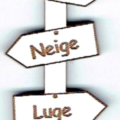 BD531 - Bouton flèche, Ski, Neige, Luge