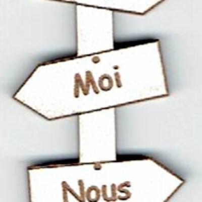 BD532 - Bouton flèche, Toi, Moi, Nous