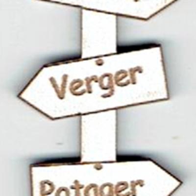 BD535 - Bouton flèche, Jardin, Verger, Potager