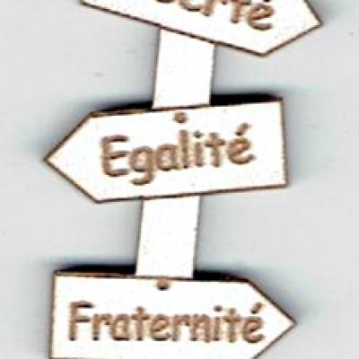 BD536 - Bouton flèche, Liberté, Egalité, Fraternité