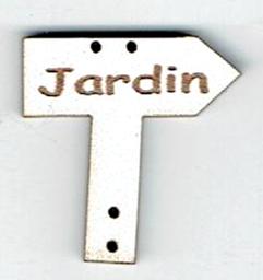 BD550 - Bouton flèche simple, Jardin